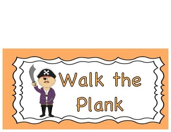 Behavior Clip Chart- Pirate Theme