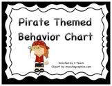 Behavior Clip Chart- Pirate Theme