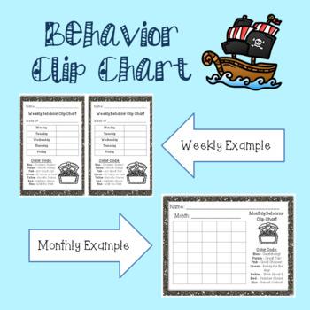 Behavior Clip Chart - Pirate Themed