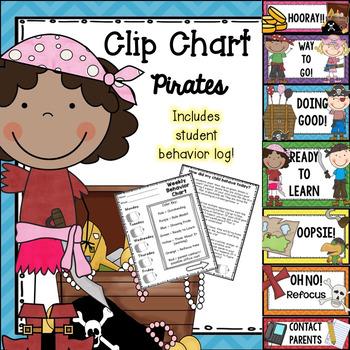 Behavior Clip Chart - Pirates