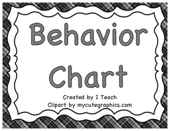 Behavior Clip Chart- Plaid