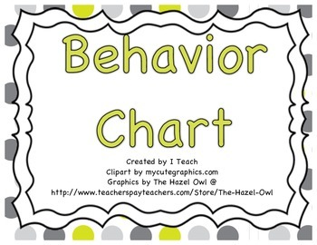 Behavior Clip Chart- Polka Dot Gray
