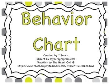 Behavior Clip Chart- Polka Dot Gray