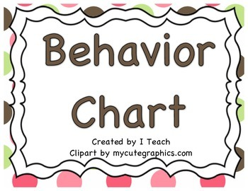 Behavior Clip Chart- Polka Dot Brown