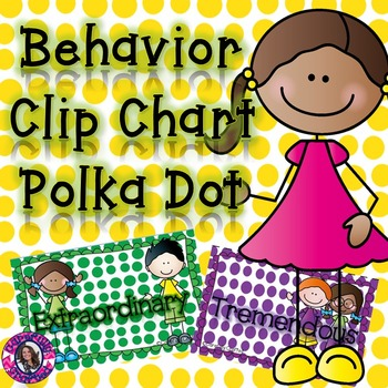 Behavior Clip Chart: Polka Dot
