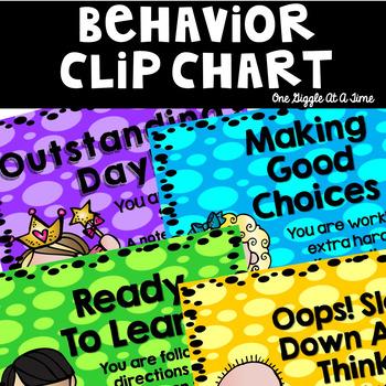 Behavior Clip Chart and Log (Polka Dot Bright)