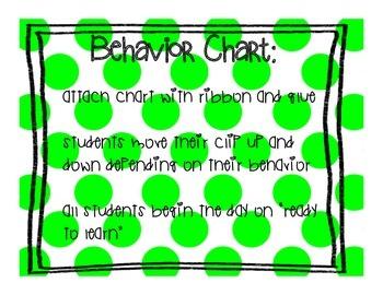 Behavior Clip Chart ~ Polka Dots!