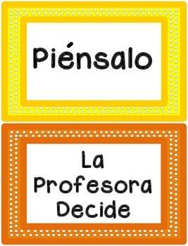 Behavior Clip Chart - Polka Dots Theme {SPANISH}