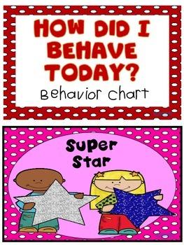 Behavior Clip Chart {Polka-Dots Themed}