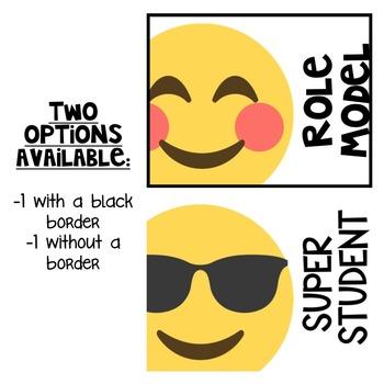 EDITABLE Behavior Clip Chart Printable - Emoji Themed