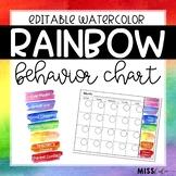 Behavior Clip Chart {Rainbow Watercolor}