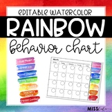 Behavior Clip Chart {Rainbow Watercolor}