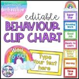 Behavior Clip Chart Editable | Watercolor Rainbow
