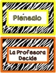 Behavior Clip Chart - Rainbow Zebra {SPANISH}