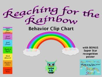 Behavior Clip Chart- Reaching for the Rainbow