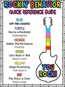 Behavior Clip Chart, Monthly Calendars, and More - Rockstar Theme {Editable}