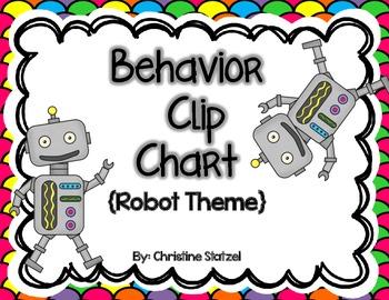 Behavior Clip Chart {Robot Theme}