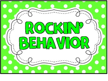 Behavior Clip Chart - Rock 'N Roll Theme