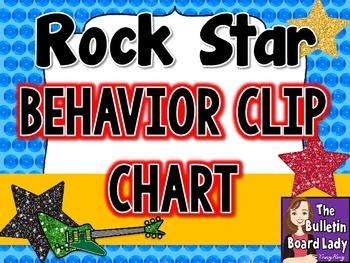 Behavior Clip Chart - Rock Star Theme
