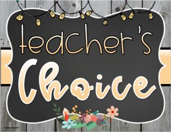 Behavior Clip Chart Rustic Farmhouse Shabby Chic Chalkboard Theme
