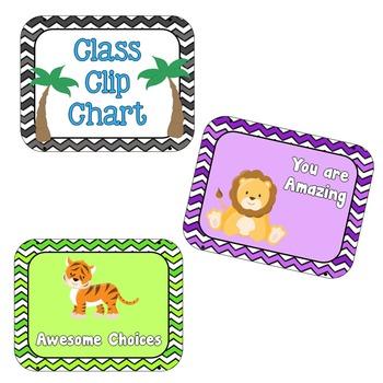 Behavior Clip Chart - Safari Theme