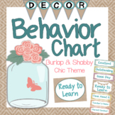 Behavior Clip Chart - Shabby Chic and Burlap Theme