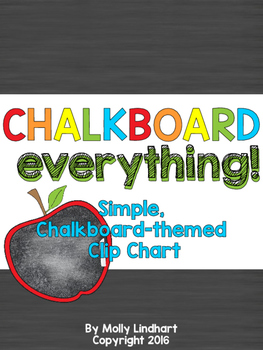 Behavior Clip Chart - Simple, Chalkboard-themed
