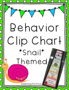 Behavior Clip Chart {Snail Themed}