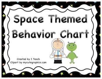 Behavior Clip Chart- Space Theme