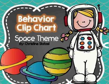 Behavior Clip Chart {Space Theme}