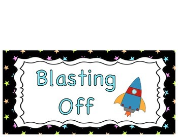 Behavior Clip Chart- Space Theme with different consequences
