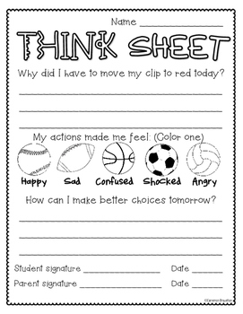 Behavior Clip Chart Sports Theme