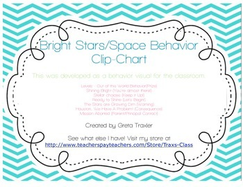 Behavior Clip Chart - Star/Space Theme