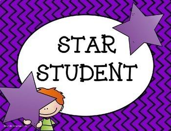 Clip Chart Behavior System: Stars Theme