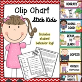 Behavior Clip Chart - Stick Kids (with Parent Chart)