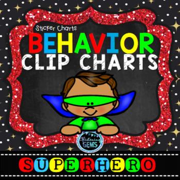 Superhero Behavior Clip Chart & Sticker Charts