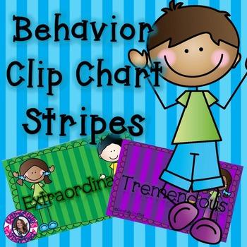 Behavior Clip Chart: Stripes