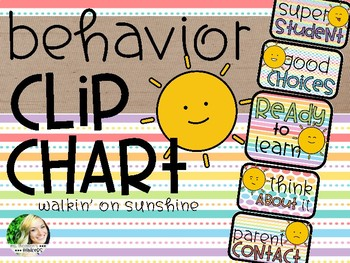 Behavior Clip Chart - Sunshine Brights