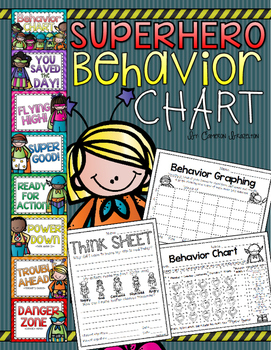Behavior Clip Chart Superhero Theme