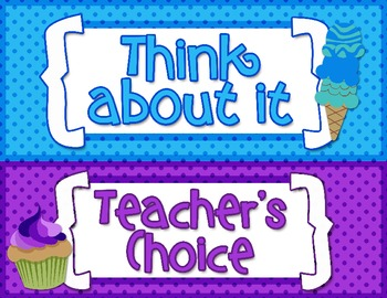Behavior Clip Chart: Sweet Treats Theme