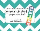 Behavior Clip Chart System {Bright Polka Dots}