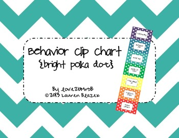 Behavior Clip Chart System {Bright Polka Dots}