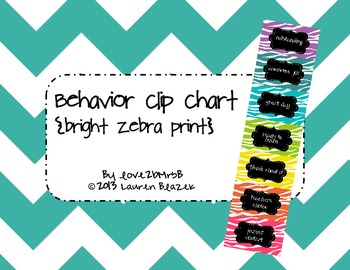 Behavior Clip Chart System {Bright Zebra Print}