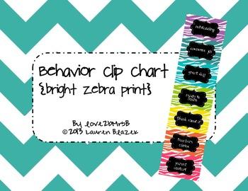 Behavior Clip Chart System {Bright Zebra Print}