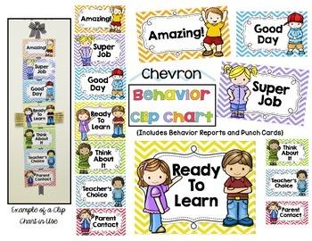 Behavior Clip Chart System - Chevron Style