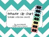 Behavior Clip Chart System: Editable Reflection Sheets