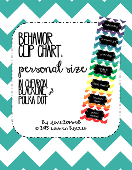 Behavior Clip Chart System {Personal Size}