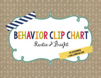 Behavior Clip Chart System {Rustic Arrows}