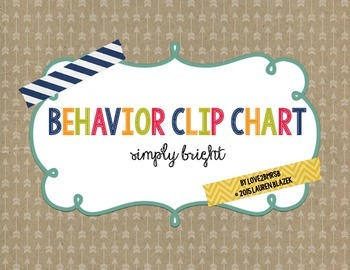 Behavior Clip Chart System {Simply Bright}