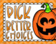 Behavior Clip Chart Think Sheet Halloween Fall October Pumpkin Theme